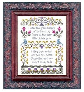 click here to view larger image of Antique Violet Sampler (chart)