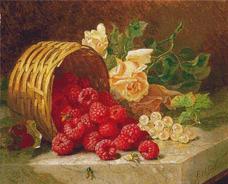 click here to view larger image of Overturned Basket With Raspberries (chart)
