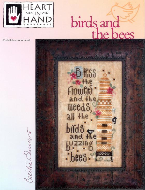 click here to view larger image of Birds And The Bees (chart with charms/buttons)