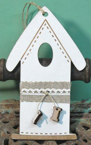 click here to view larger image of Cream Spring Ornament House (accessory)