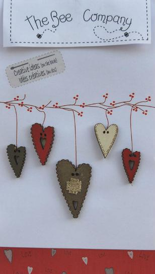 click here to view larger image of Grey 5 Assorted Heart Buttons (buttons)