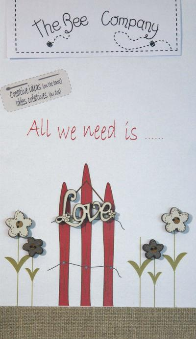 click here to view larger image of All We Need Is Love Buttons (buttons)