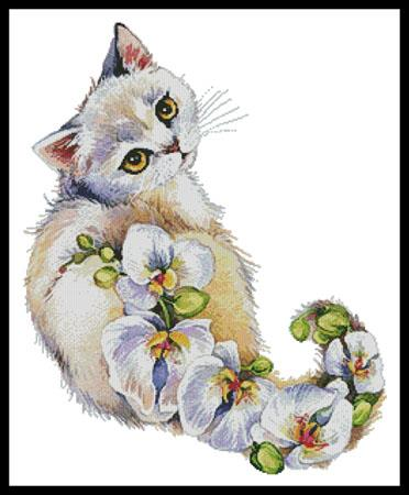 click here to view larger image of White Orchids Cat (chart)
