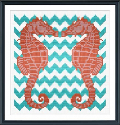 click here to view larger image of Chevron Seahorses (chart)