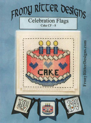 click here to view larger image of Celebration Flags - Cake (chart)