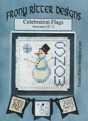 click here to view larger image of Celebration Flags - Snowman (chart)