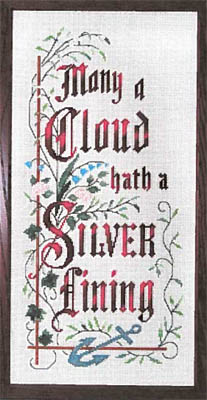 click here to view larger image of Many A Cloud Hath A Silver Lining (chart)