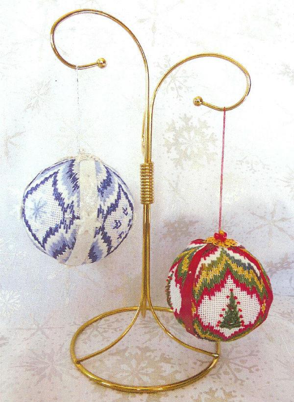 click here to view larger image of Christmas Balls 3 - Trees and Snowflakes (counted canvas chart)
