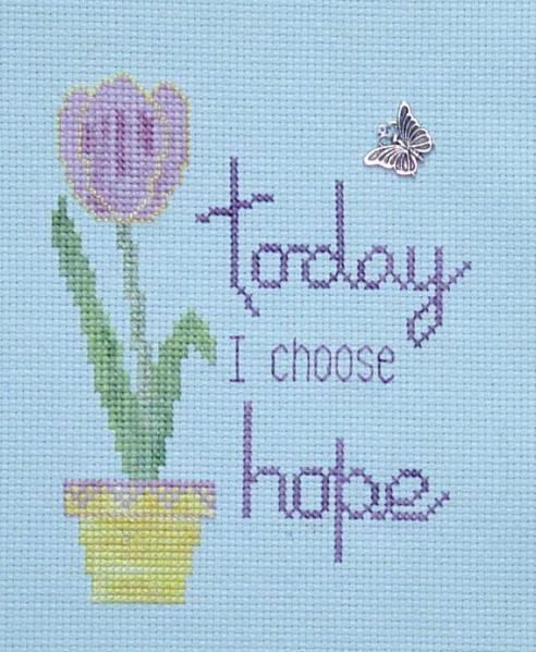 click here to view larger image of I Choose Hope (chart with charms/buttons)