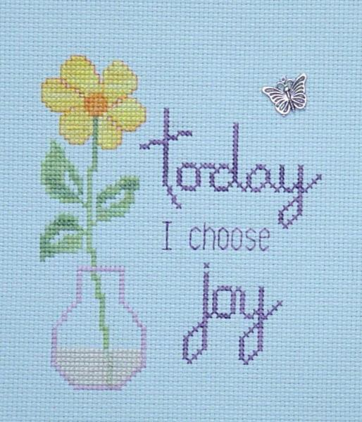 click here to view larger image of I Choose Joy (chart with charms/buttons)