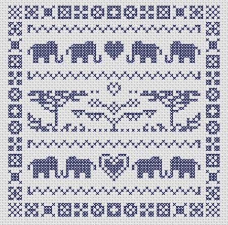 click here to view larger image of Elephant Sampler (chart)