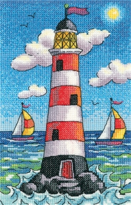 click here to view larger image of Lighthouse By Day - By The Sea (27ct) (counted cross stitch kit)
