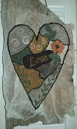 click here to view larger image of Primitive Crazy Love - Punchneedle (Punchneedle)