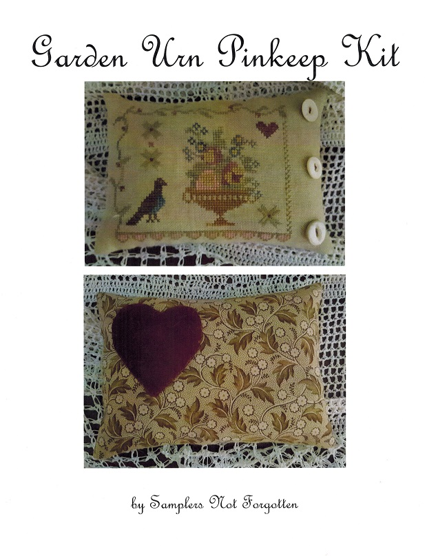 Garden Urn Pinkeep - Limited Edition Kit - click here for more details about counted cross stitch kit