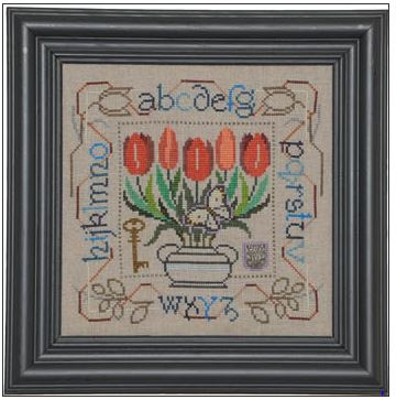 click here to view larger image of Potted Posies Sampler - Tulips (chart)