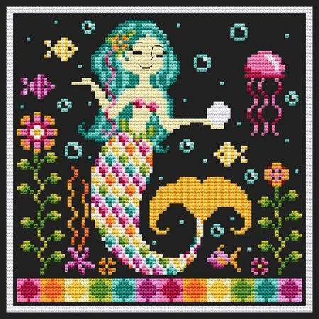 click here to view larger image of Rainbow Mermaid (chart)