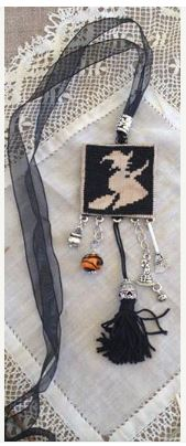 click here to view larger image of Necklace Kit - Witch on Black (pin)