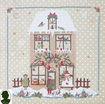 click here to view larger image of Christmas Avenue - Family House (Includes 2 Buttons) (chart)