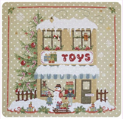 click here to view larger image of Christmas Avenue - Toy Shop (Includes 2 Buttons) (chart)
