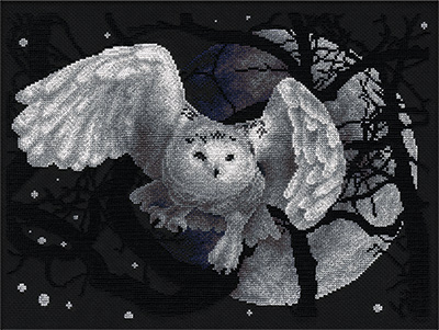 click here to view larger image of J-0359 White Owl (counted cross stitch kit)