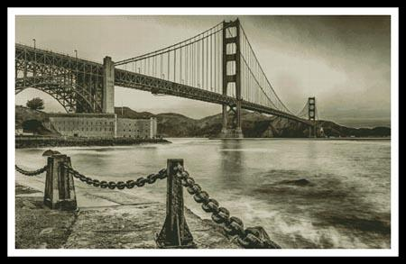 click here to view larger image of Golden Gate - Sepia (Large) (chart)