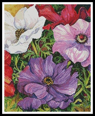 click here to view larger image of Colourful Anemones (Crop) (chart)