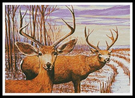 click here to view larger image of Mule Deer In A Cornfield (chart)