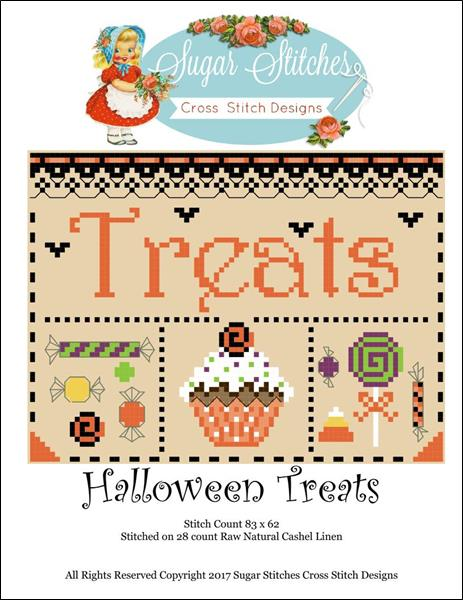 click here to view larger image of Halloween Treats (chart)