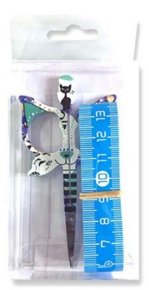 click here to view larger image of Bohin Cat Design 3.5in Blue Scissor - Gift Set (accessory)