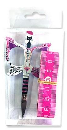 click here to view larger image of Bohin Cat Design 3.5in Pink Scissor - Gift Set (accessory)