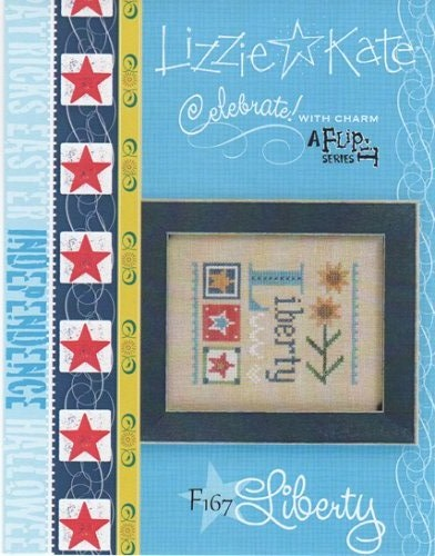 click here to view larger image of Celebrate! With Charm 2017 Flip-It - Liberty (Includes Embellishment) (chart with charms/buttons)