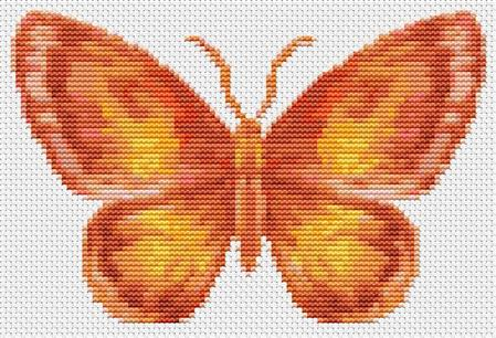 click here to view larger image of Butterfly Series - The Flame (chart)
