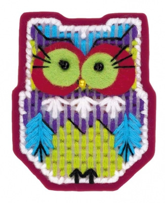 click here to view larger image of Magnet Owl (counted cross stitch kit)
