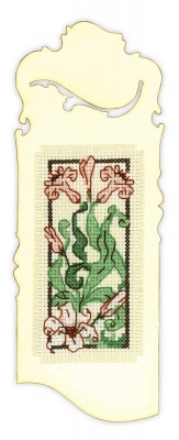 click here to view larger image of Bookmark Blooming Iris (counted cross stitch kit)