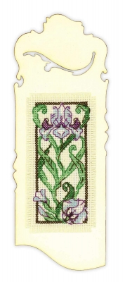 click here to view larger image of Bookmark Graceful Lily (counted cross stitch kit)