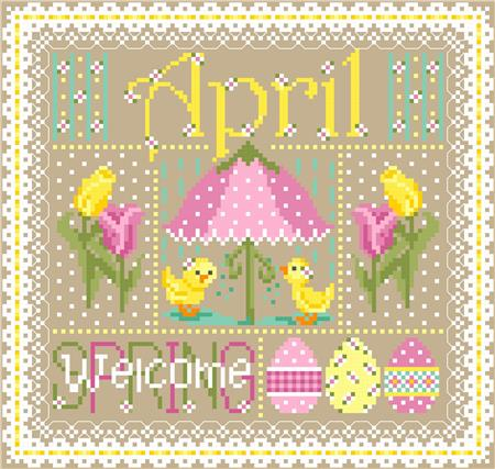 click here to view larger image of April Monthly Sampler (chart)