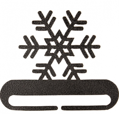 click here to view larger image of Snowflake Split Bottom Bellpull - Charcoal - 6in (accessory)