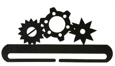 click here to view larger image of Gears Split Bottom Bellpull - Charcoal - 8in (accessory)