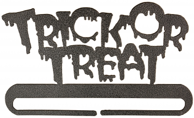 click here to view larger image of Trick Or Treat Split Bottom Bellpull - Charcoal - 8in (accessory)