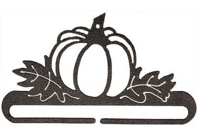 click here to view larger image of Pumpkin Patch Split Bottom Bellpull - Charcoal - 6in (accessory)