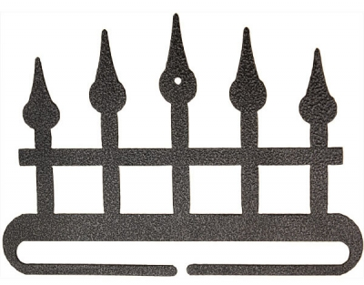 click here to view larger image of Iron Fence Split Bottom Bellpull - Charcoal - 6in (accessory)