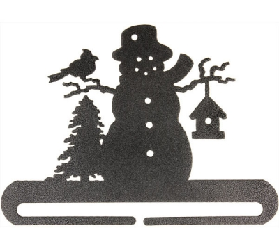 click here to view larger image of Frosty Snowman Split Bottom Bellpull - Charcoal - 12in (accessory)
