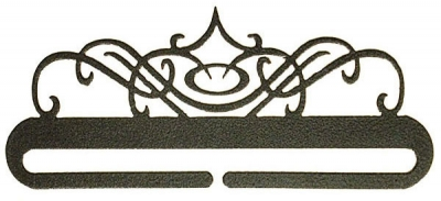 click here to view larger image of Windy Scroll Split Bottom Bellpull - Charcoal - 9in (accessory)