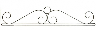 click here to view larger image of Wire Scroll Split Bottom Bellpull - Charcoal - 36in (accessory)