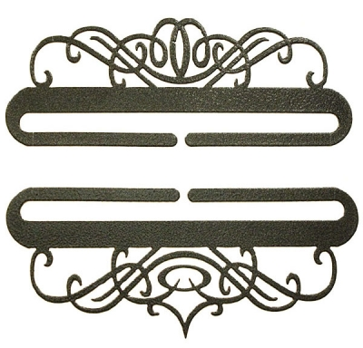 click here to view larger image of Windy Scroll Bellpull Pair - Charcoal - 6in (accessory)