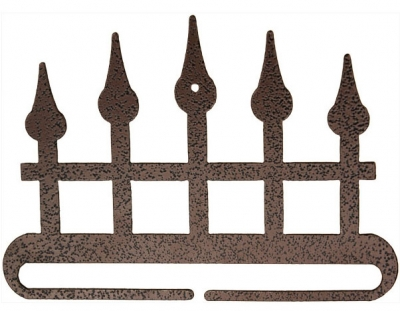click here to view larger image of Iron Fence Split Bottom Bellpull - Copper Vein - 6in (accessory)