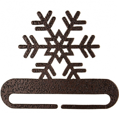 click here to view larger image of Snowflake Split Bottom Bellpull - Copper Vein - 6in (accessory)