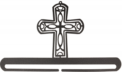 click here to view larger image of Cross Split Bottom Bellpull - Charcoal - 12in (accessory)