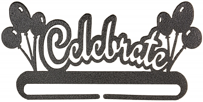 click here to view larger image of Celebrate Split Bottom Bellpull - Charcoal - 12in (accessory)