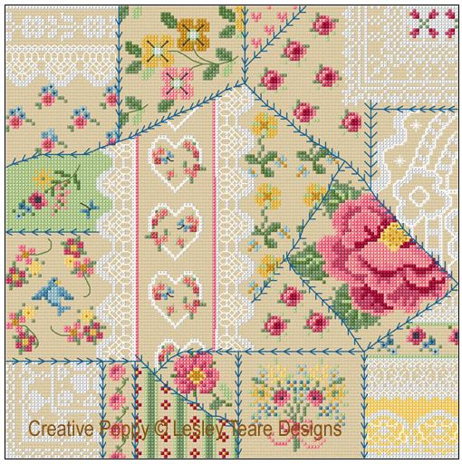 click here to view larger image of Vintage Crazy Quilting (chart)